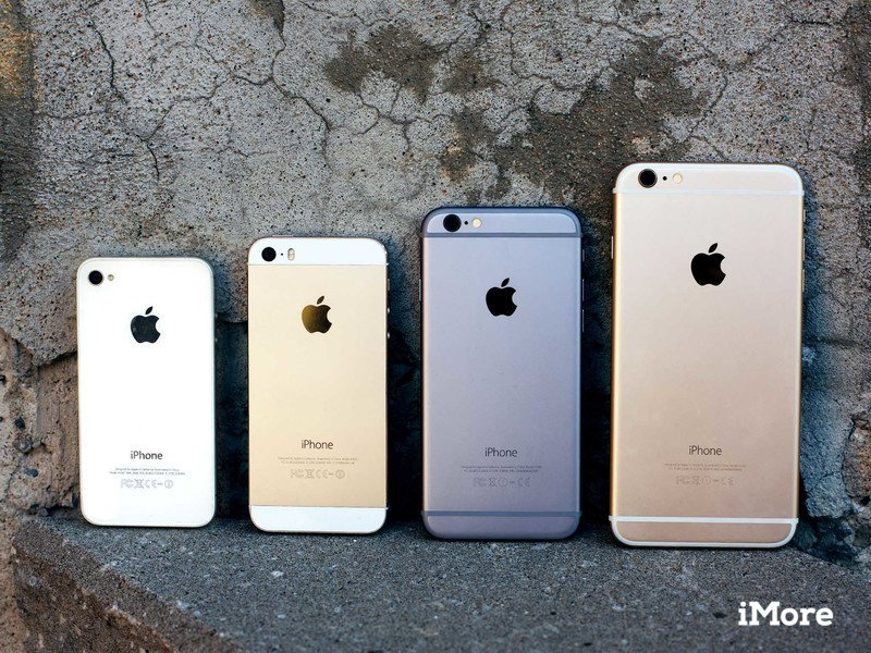 iPhone 4s, 5s, and 6