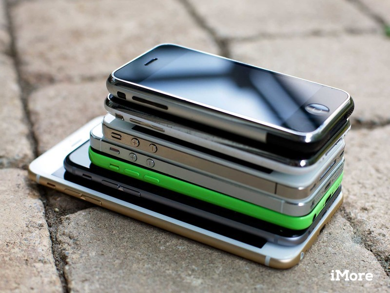 Stack of Old iPhones