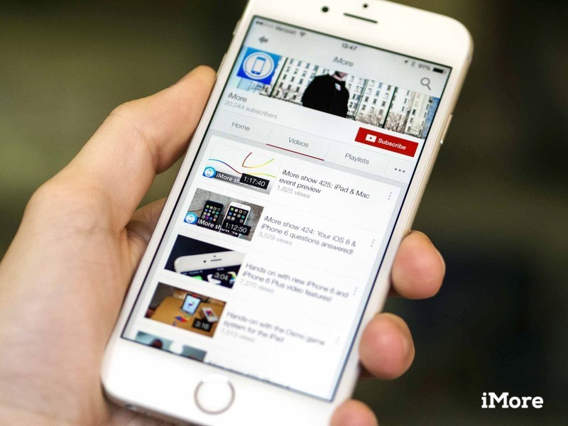 youtube on iPhone 6 Plus