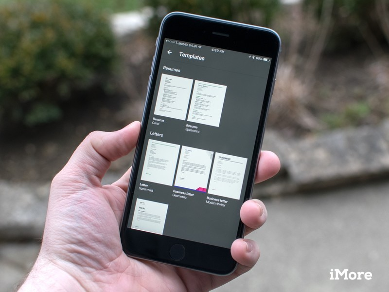 Templates Make Their Way To Google Docs Sheets And Slides On IOS