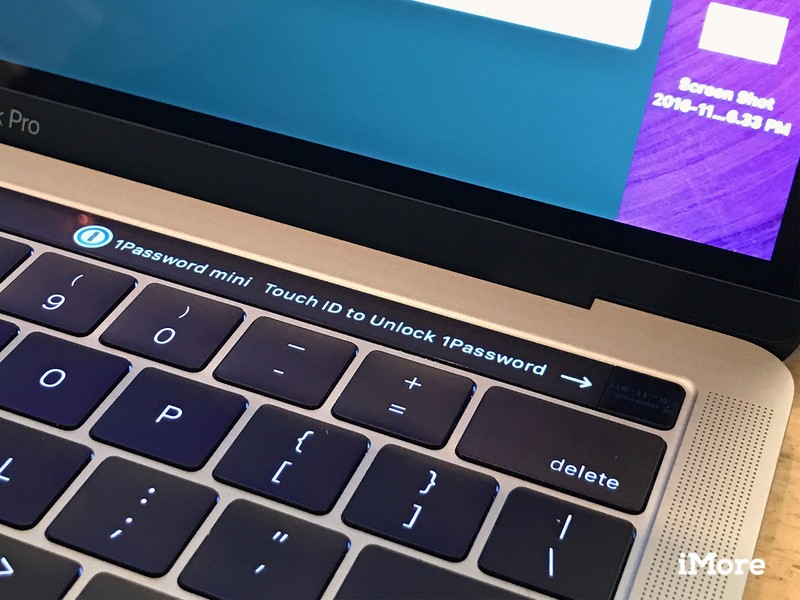Use Touch ID to unlock 1Password on MacBook Pro Touch Bar