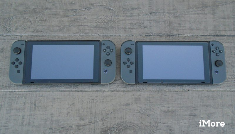 The original Nintendo Switch and the New Nintendo Switch V2 side by side