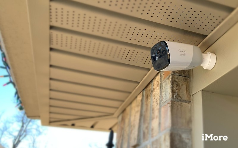eufyCam 2 installed on a home outdoors