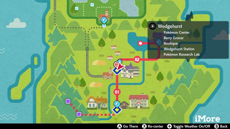 Pokemon Sword and Shield Town Map