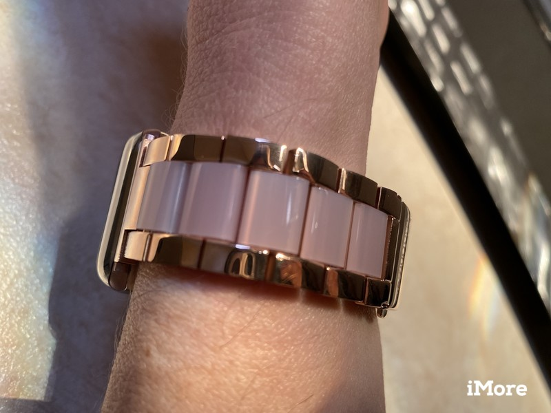 Wearlizer Stainless Steel and Resin Apple Watch Band