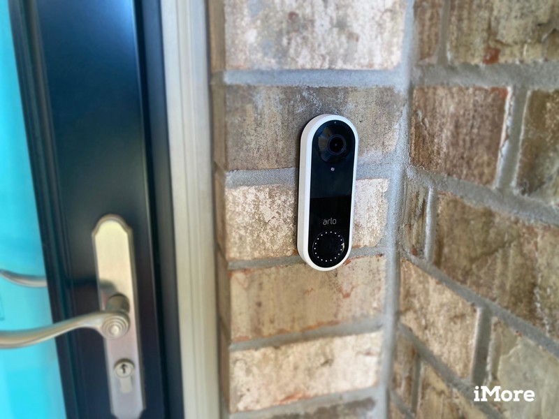 Arlo Video Doorbell installed in an outdoor setting