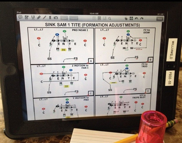 NFL players and coaches starting to use the iPad to prepare for game day