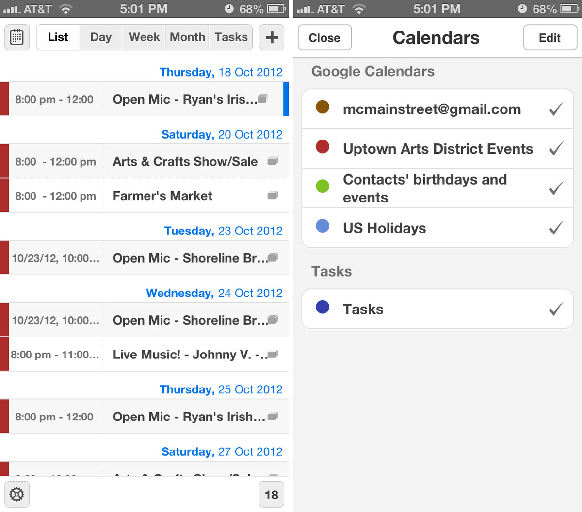calendars by readdle for iphone sorting