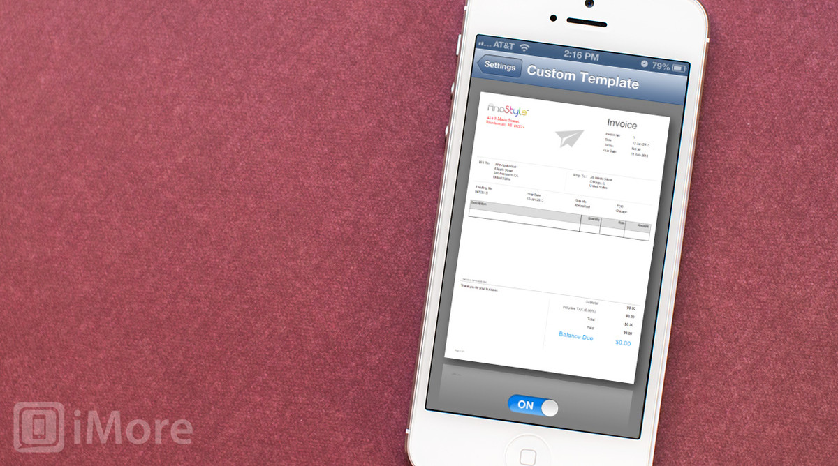 best iphone invoicing app for freelancers | imore, Invoice templates