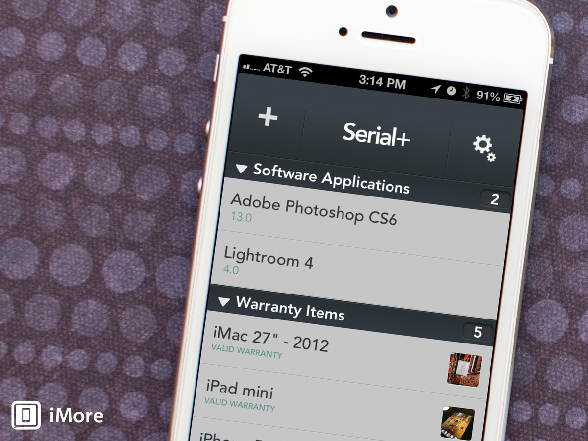 Serial+ for iPhone review: Never lose track of warranty info or serial numbers again