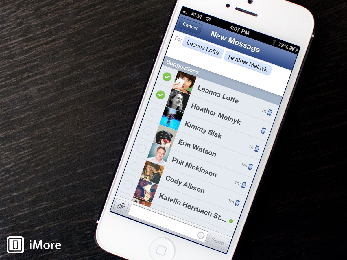 How to create a group chat with Facebook for iPhone and iPad