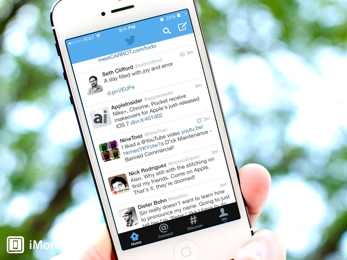 Twitter for iPhone and iPad updated with official support for iOS 7