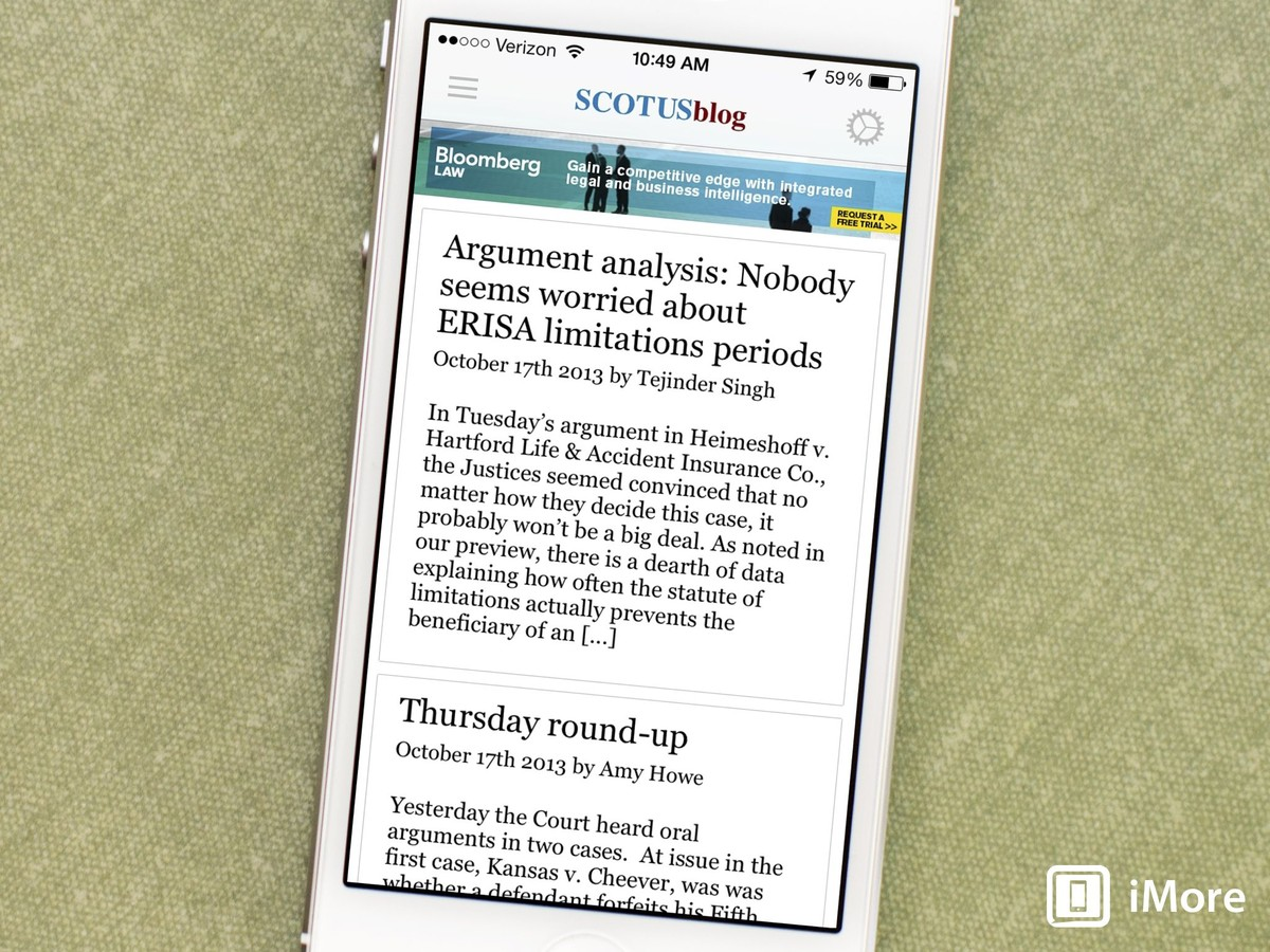 Keep up to date with the latest news from the Supreme Court with the SCOTUSblog app
