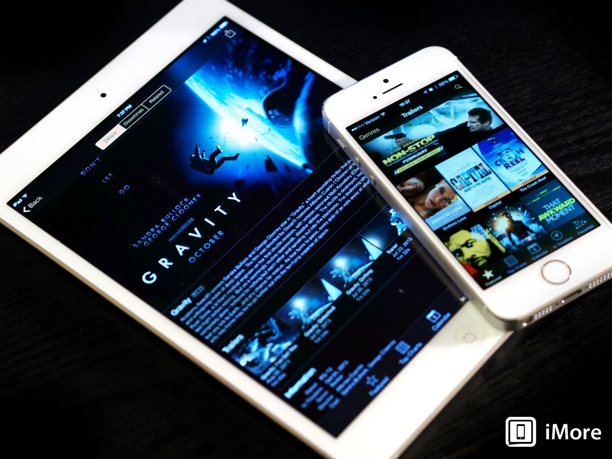 iTunes Movie Trailers gets its turn on the iOS 7 red carpet