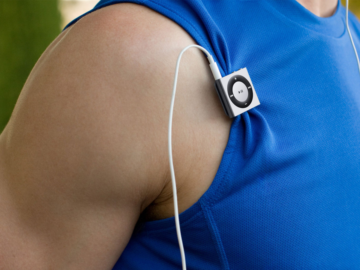 If you need an ultra-light, ultra-cheap way to take just your audio with you, you want the iPod shuffle