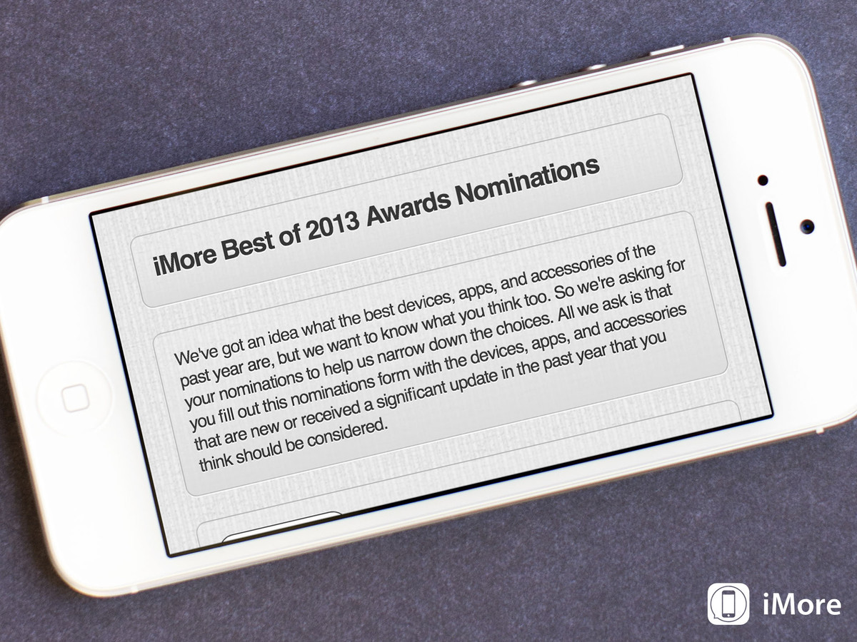 Give us your nominations for the iMore Best of 2013 Awards!