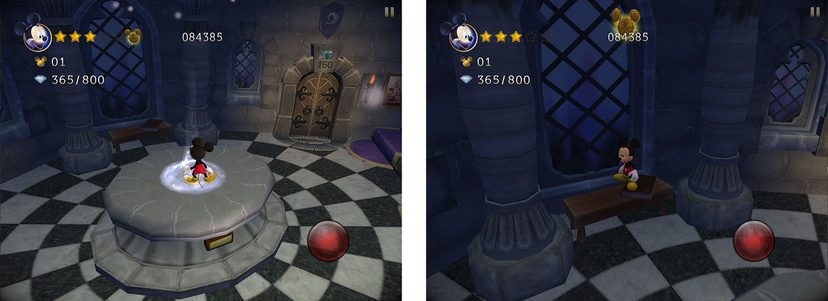 Castle of Illusion tips, tricks, and cheats: Collect the free life upstairs in the Castle of Illusion
