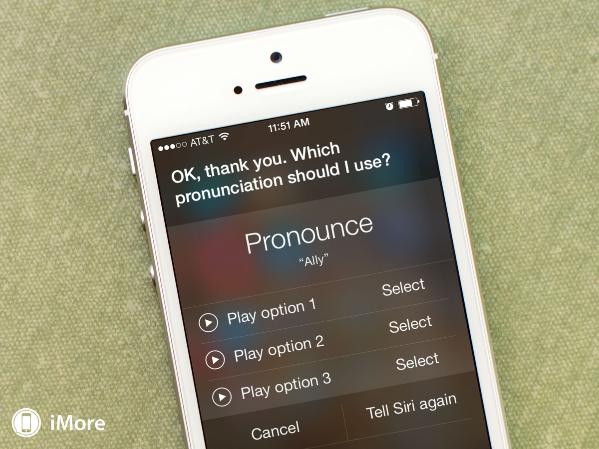 How to teach Siri to pronounce someone's name correctly in iOS 7