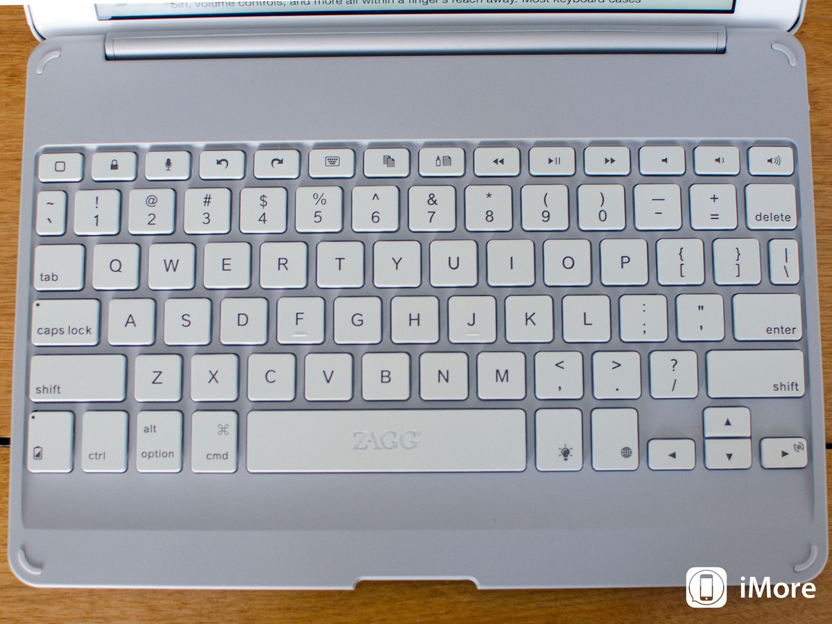Zagg Keys Folio for iPad Air review: Keyboard layout