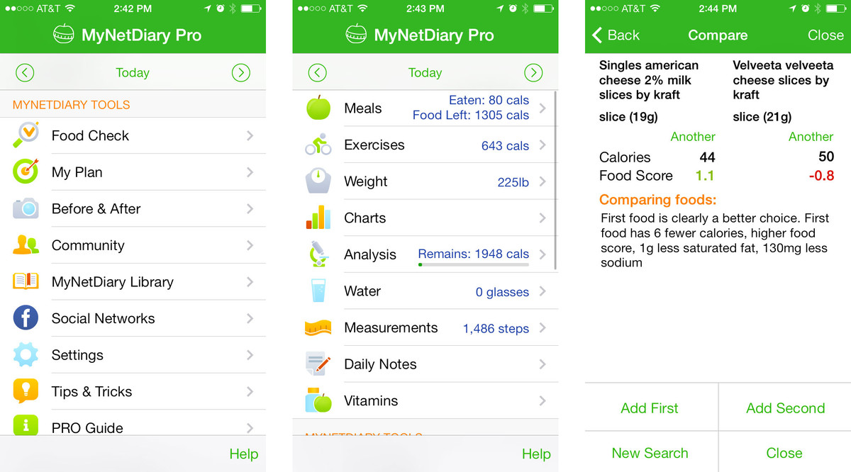 Best calorie counting and diet apps for iPhone: Calorie Counter PRO