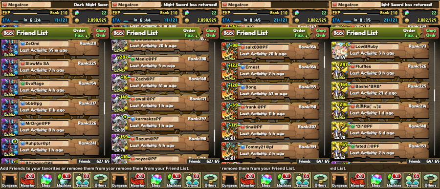 Puzzle and Dragons tricks