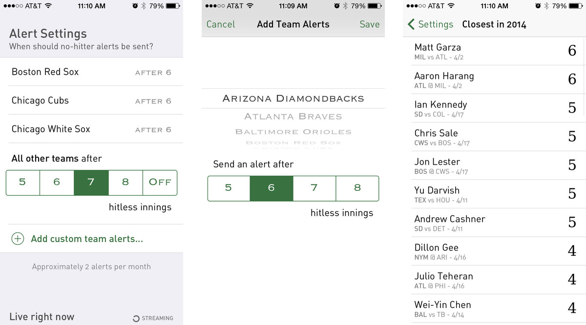Best iPhone apps to follow the 2014 baseball season: No-Hitter Alerts