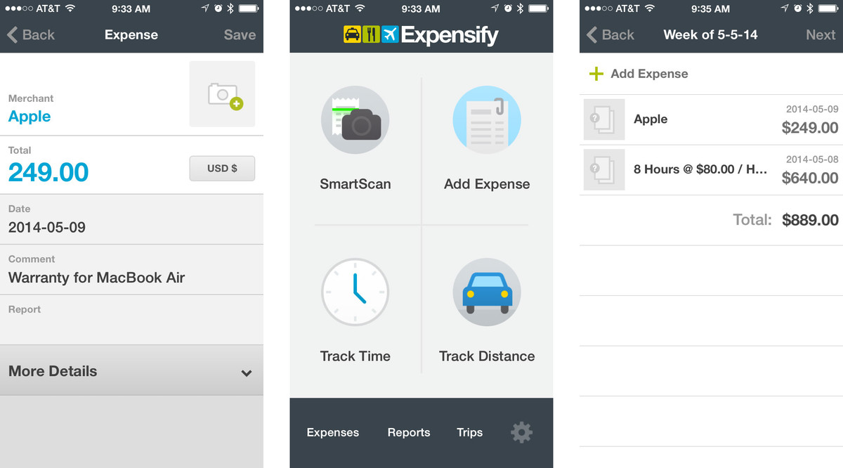 Best expense tracking and reporting apps for iPhone: Expensify