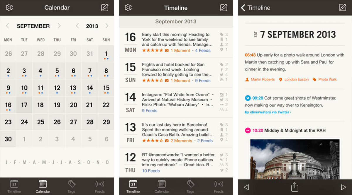 Best journaling apps for iPhone and iPad: Momento