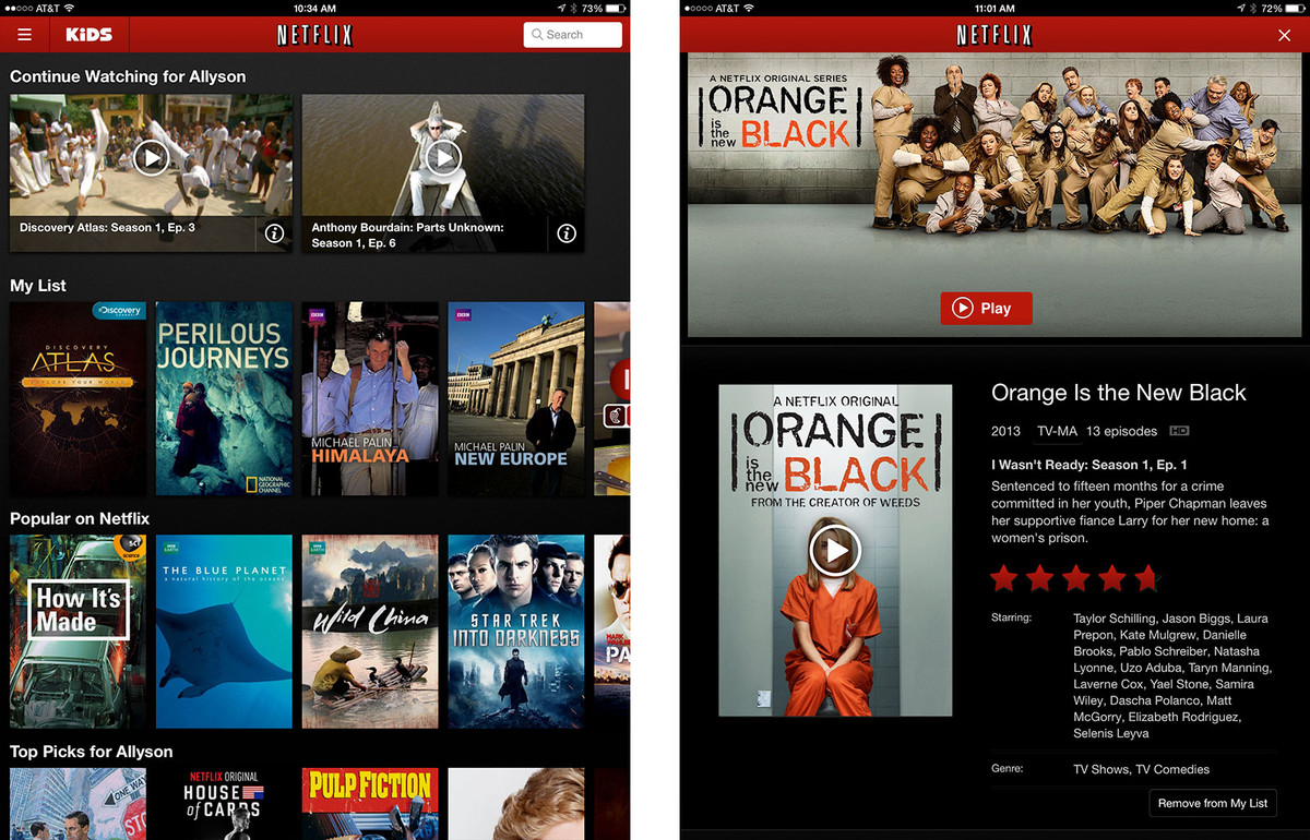 Best streaming video apps for iPhone and iPad (U.S.): Netflix
