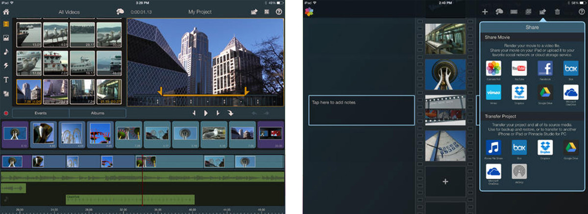 Best video editing apps for iPad: Pinnacle Studio