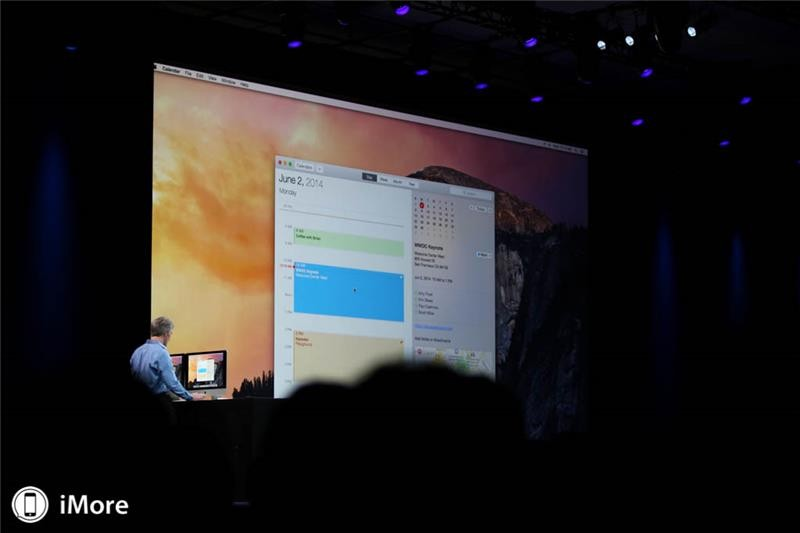 OS X 10.10 Yosemite features brand new design