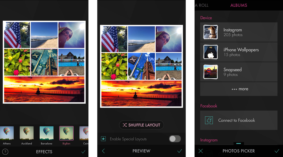 best photo collage apps for iphone and ipad iphoto