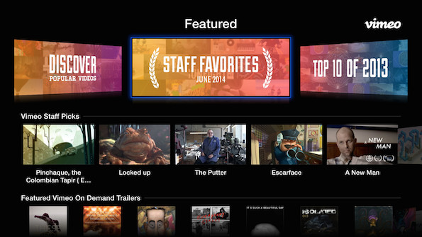 The new Vimeo for Apple TV