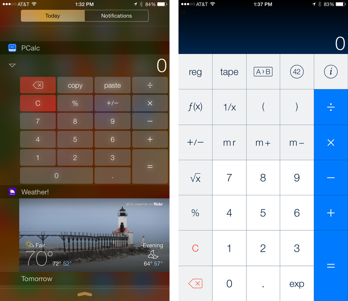 Best apps with Notification Center widgets for iOS 8: PCalc