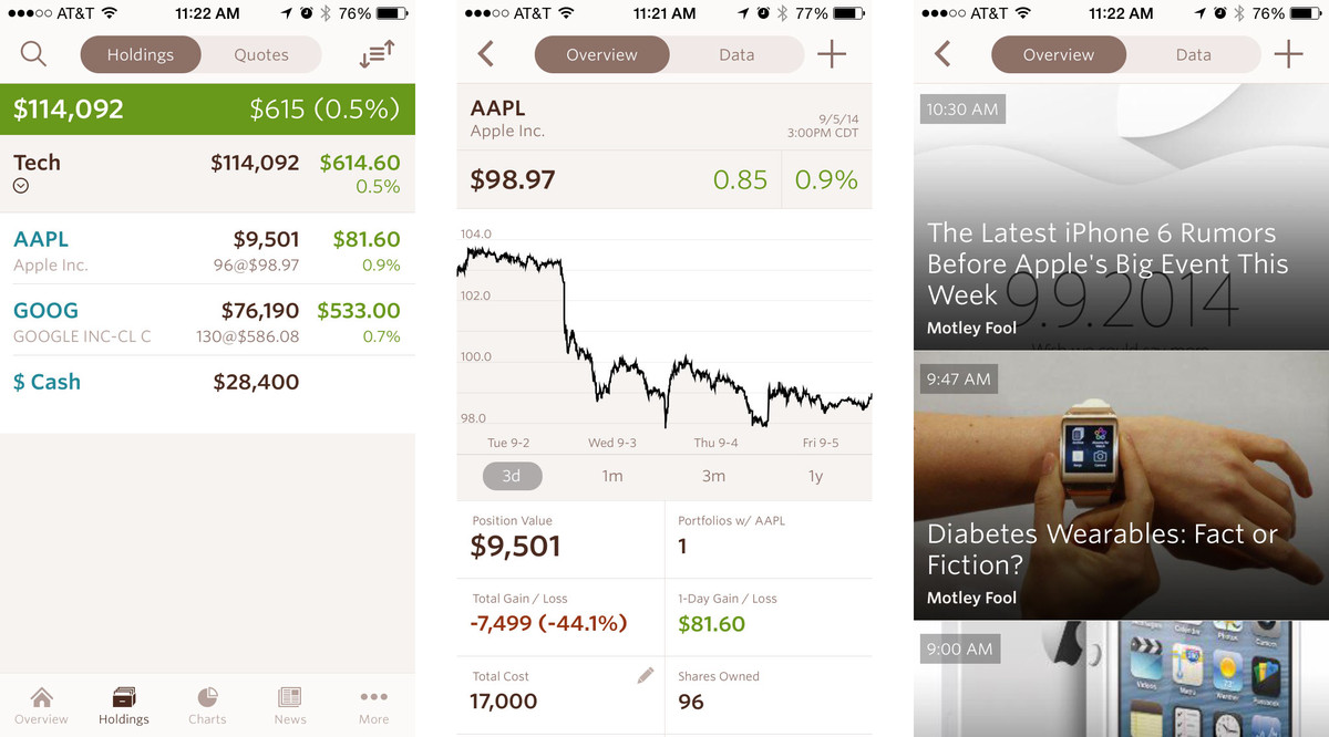 Best personal investment apps for iPhone: SigFig Investing