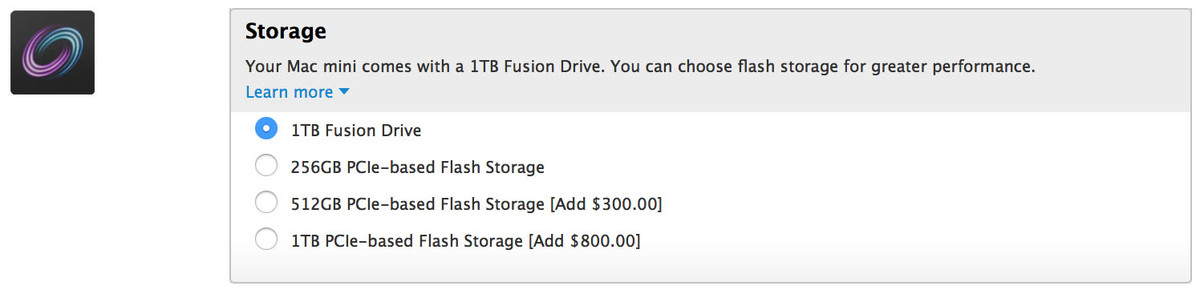 Mac mini storage options