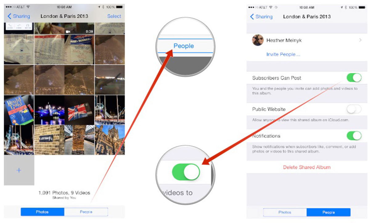 How to let others add photos to your shared Photo Streams