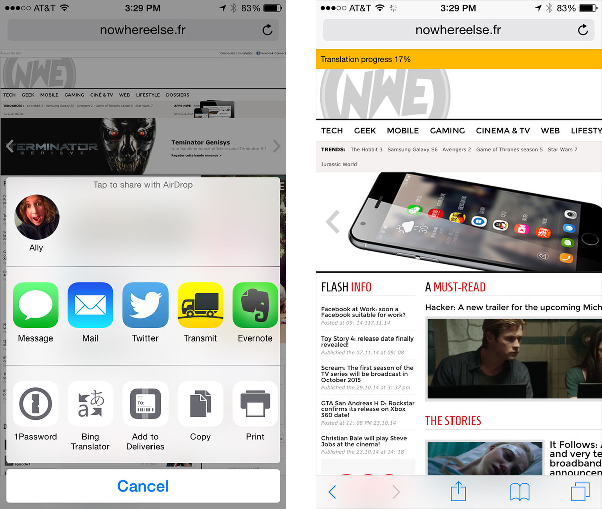 Best apps that support sharing extensions in iOS 8: Transmit
