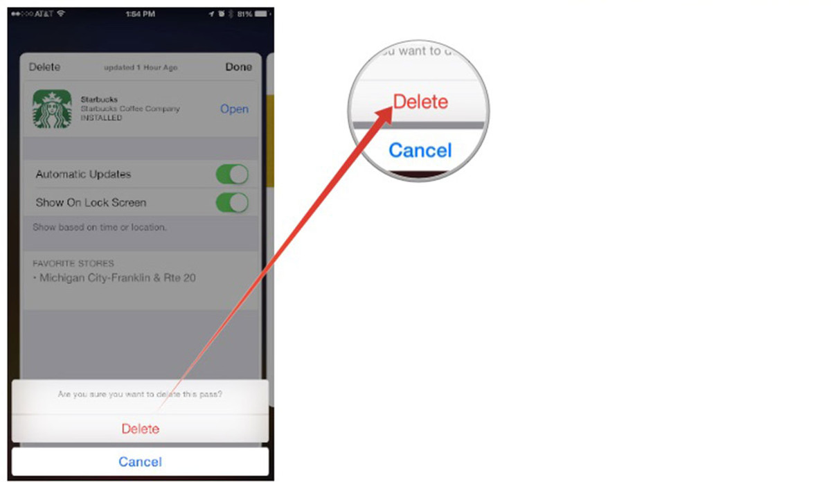 How to delete Passbook cards on iPhone