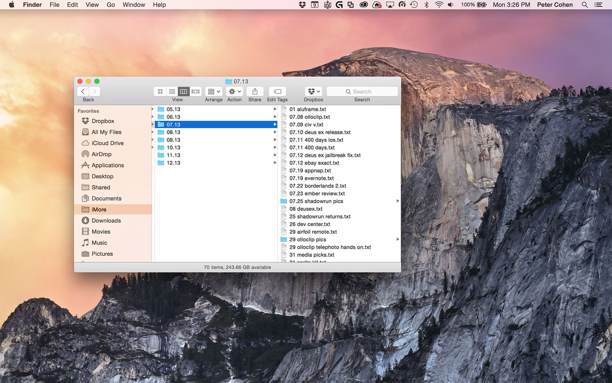 How to resize multiple Finder column widths at once in Yosemite