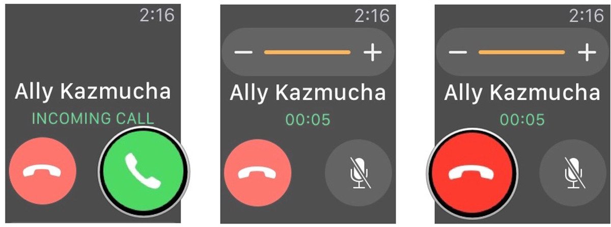 How to answer a call with Apple Watch