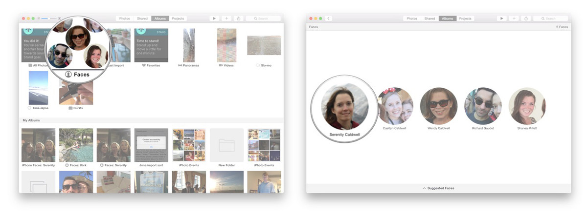 How to get Faces to sync between multiple computers on Photos for OS X