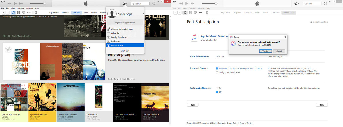 Apple Music in iTunes for Windows 10