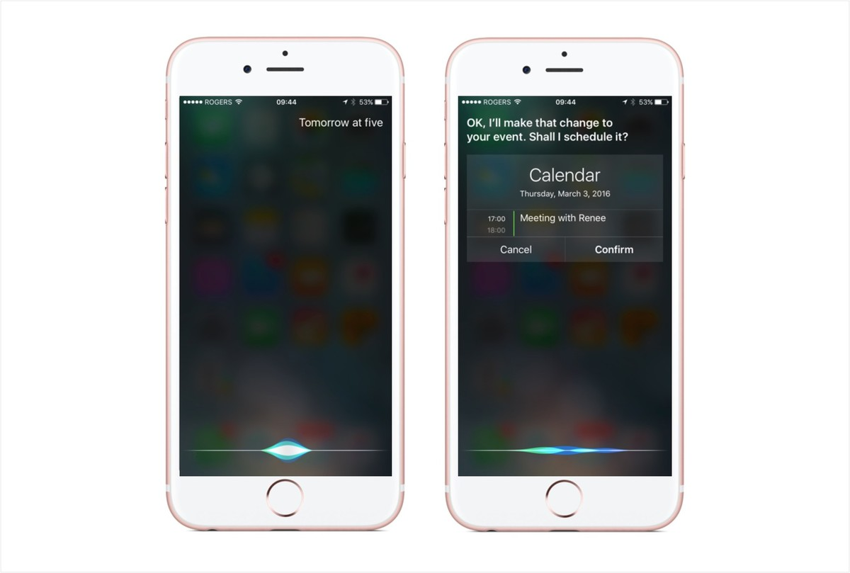 Tell Siri the new date and time and say or tap confirm.