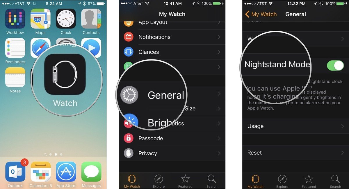 Enabling Nightstand mode for Apple Watch on iPhone