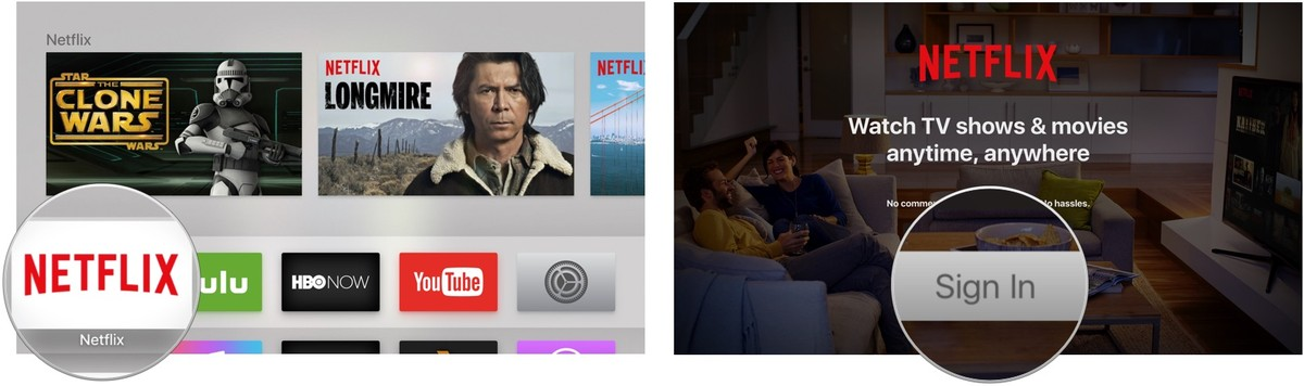 Signing into Netflix on Apple TV