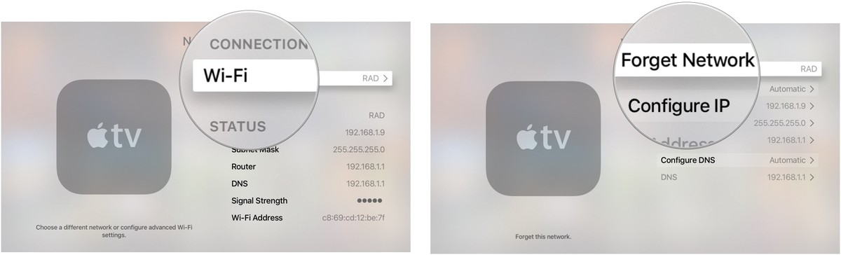 How to change location on apple tv