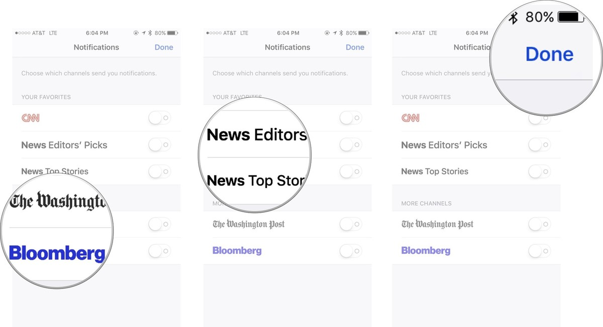 Add channels, add Top Stories, done