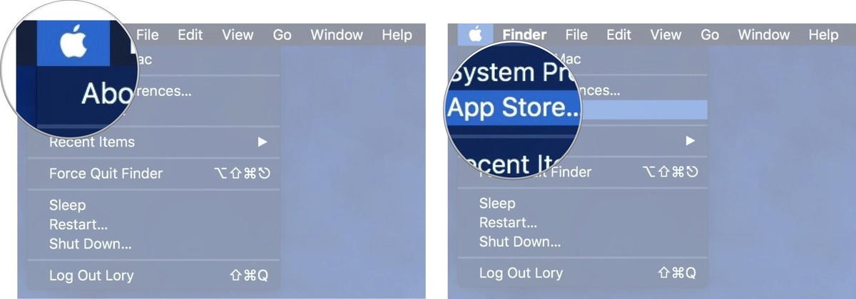 Launch the Mac App Store