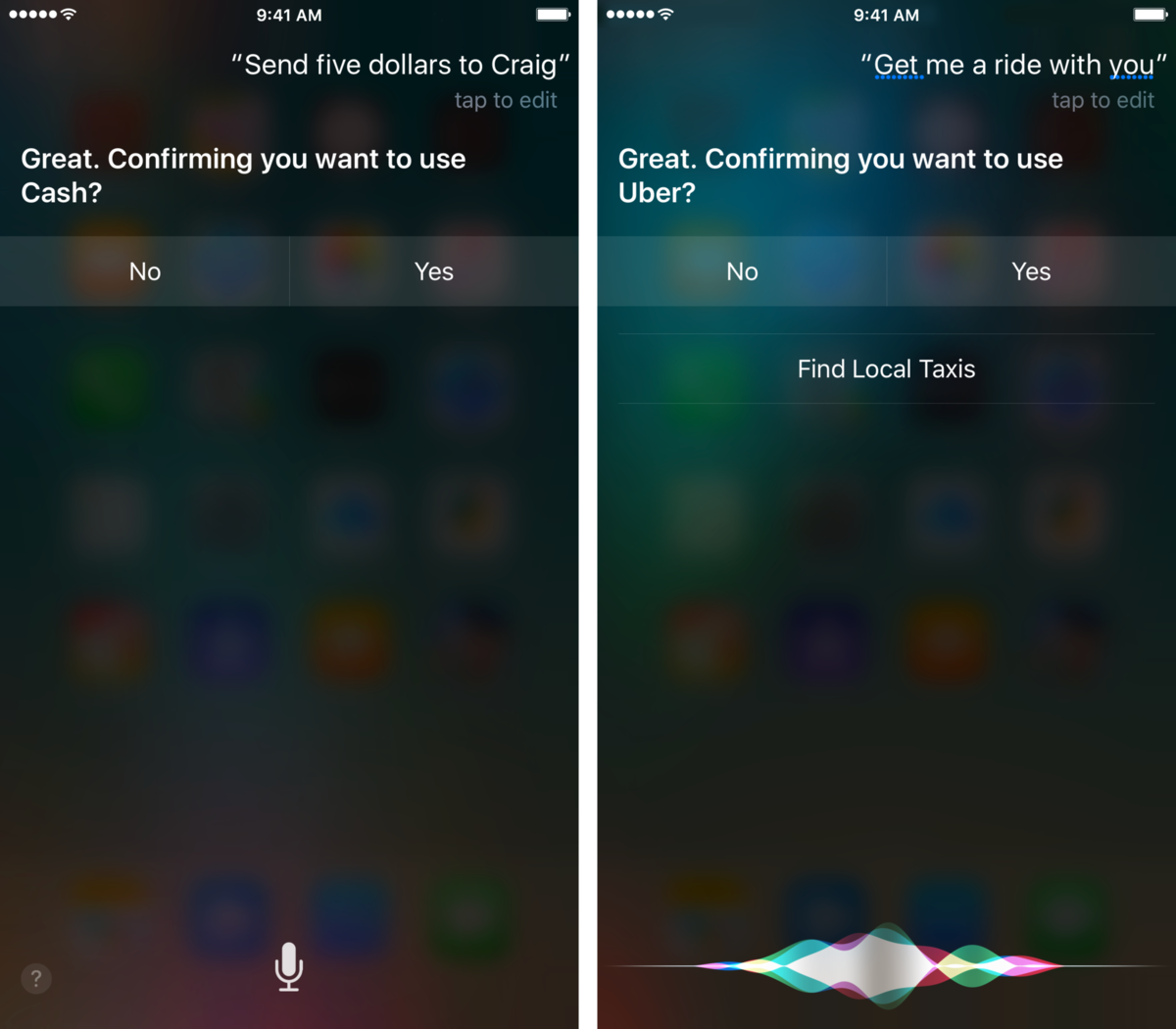 Ask Siri to perform a task in a third-party app